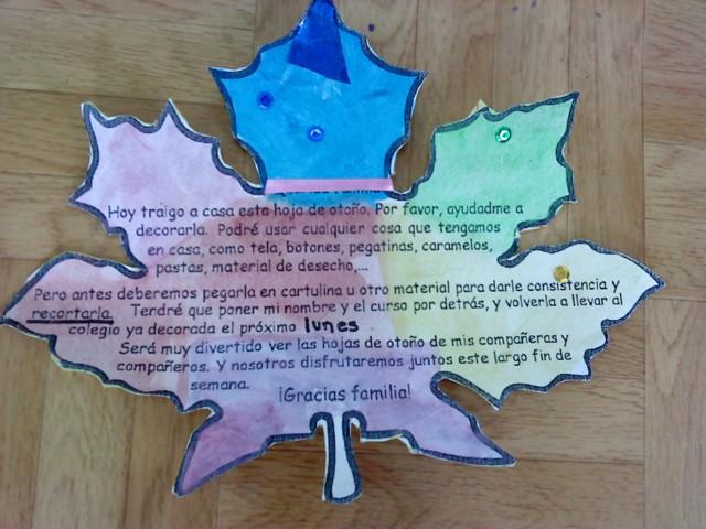 Como decorar una hoja infantil imagui - Hojas de otono para decorar ...